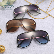 Vintage Goggle Men Sunglasses 2019 New Women Classic Fashion Eyewear UV400 Personality Design Brand