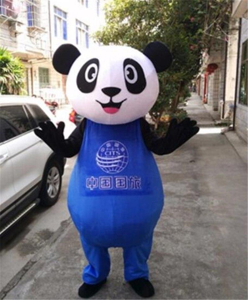 2019 Costume de mascotte Panda chinois costumes Cosplay partie jeu robe tenues vêtements publicité carnaval Halloween noël pâques