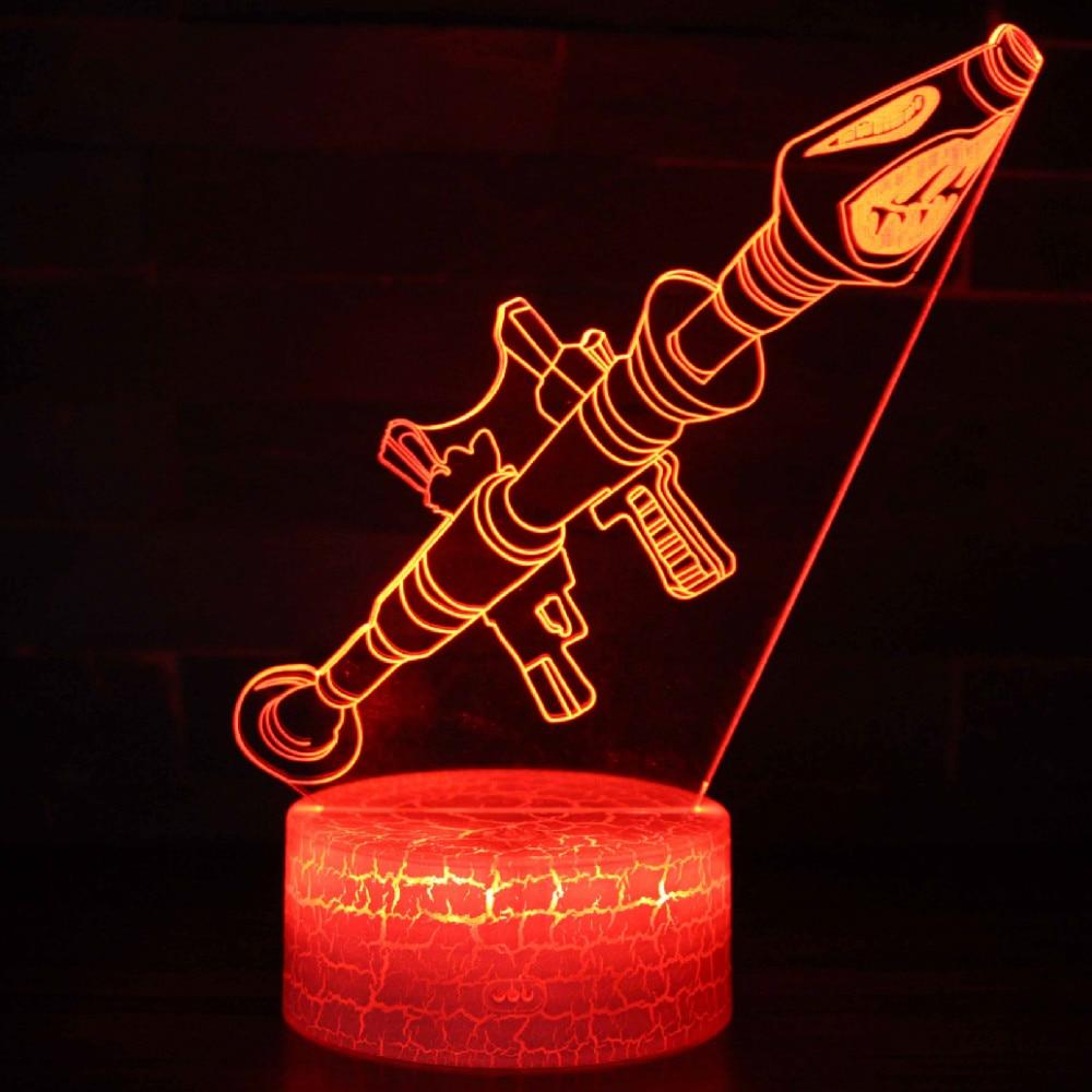 SHINEHENG batalla Royale 3D sueño lámpara cambiable bomba Rocket protección luminosa juguetes con 7 luces de colores