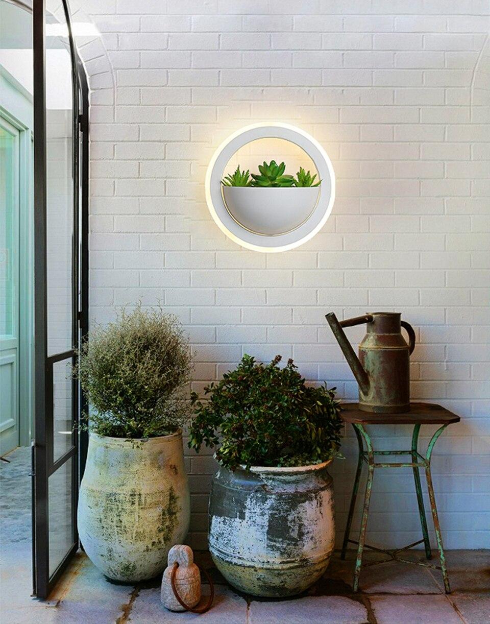 interior acrílico circular ac85 ac85 260 v quarto corredor varanda