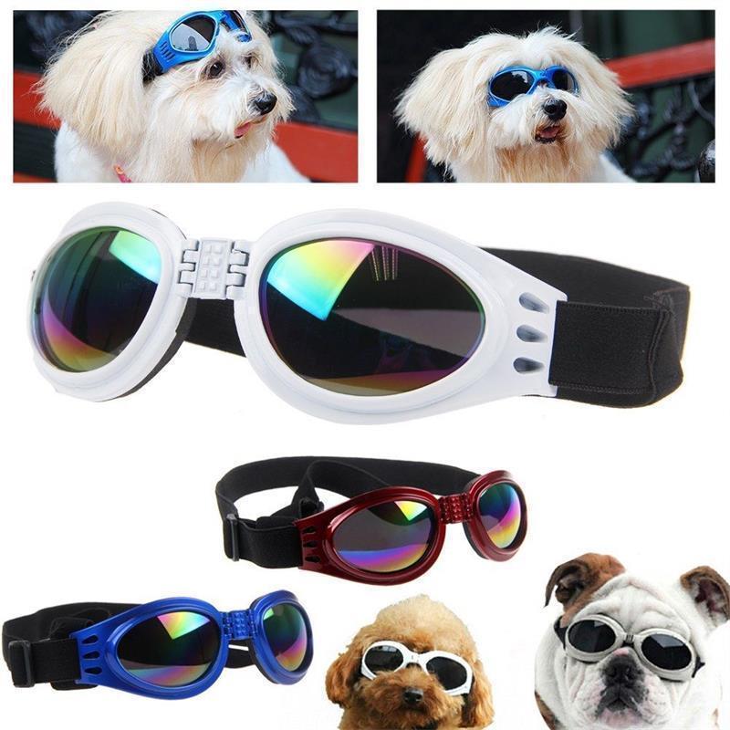 5 Colors foldable Pet Dog glasses medium Large Dog pet glasses Pet eyewear waterproof Dog Protection Goggles UV Sunglasses