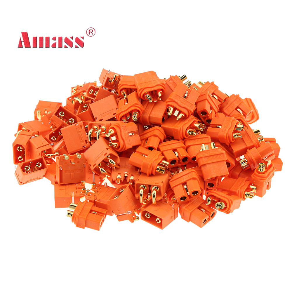 10 Pair Amass XT60I/XT60H/XT30U Bullet Connector Plug Upgrated of XT60I-Female & XT60IPW-Male Gold Plated For Rc Parts