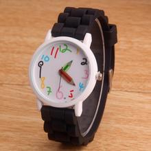 Lápis moda Dos Desenhos Animados do relógio Das Mulheres De Silicone Relógios 2016 New Casual quartz relógio de pulso Para Crianças e adultos relogio feminino