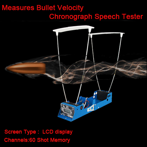 Tactical LCD Display Measures Bullet Velocity Shooting Record Function Chronograph Speed Tester For Airsoft Hunting HS35-0005 element tactical military e1000 riflescope hunting shooting chronograph foldable lcd airsoft chronograph ex 236 foe wargame bk