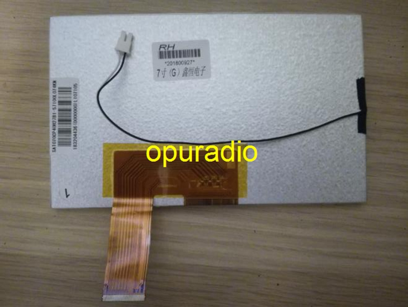 Free shipping original new 7inch TFT LCD screen SAT070CP40H27B1 for Car GPS display Screen panel Repair