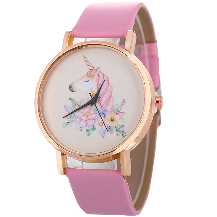 Fashion Cute Unicorn Animal Watch Women Girl Leather Strap Analog Quartz Watch For Women 12 Color Relojes De Mujer Montres Femme