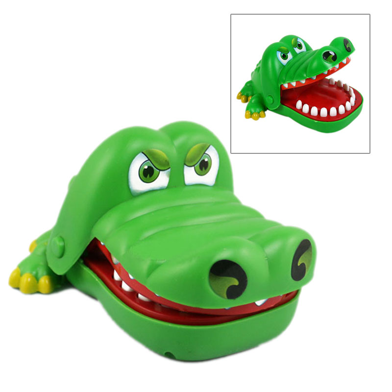 Hot Selling Creative Mouth Tooth Alligator Hand Childrens Toys Family Games Classic Biting Hand Crocodile Game @Z257