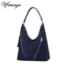 Vfemage Leather Handbags Women Bags Designer Female Suede Shoulder Crossbody Bag Ladies Tote Women Hobos Top handle Bags Sac