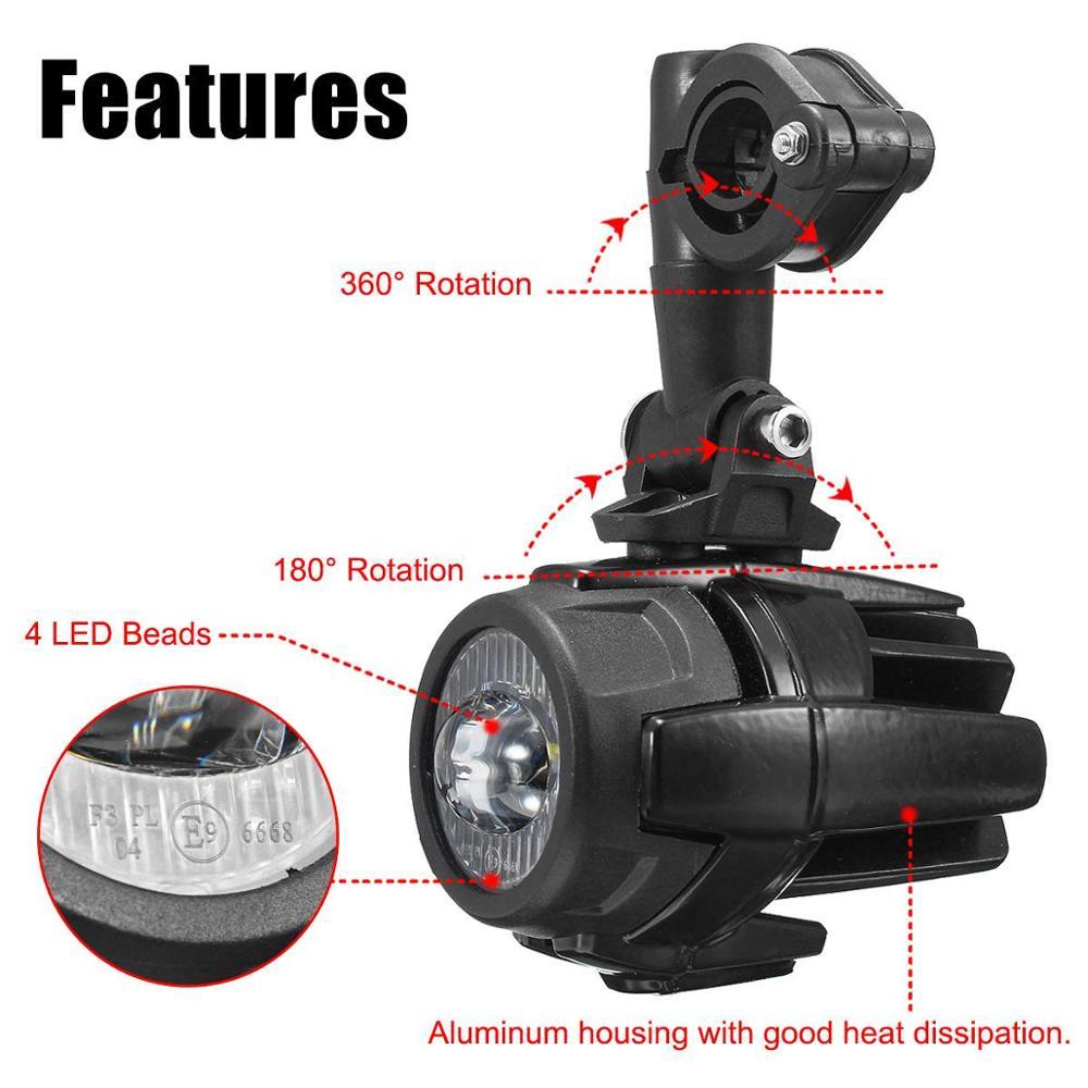 Feux de brouillard de moto LED antibrouillard auxiliaire assemblé lampe de conduite 40W pour BMW R1200GS ADV F800GS F700GS F650GS K1600 - 3