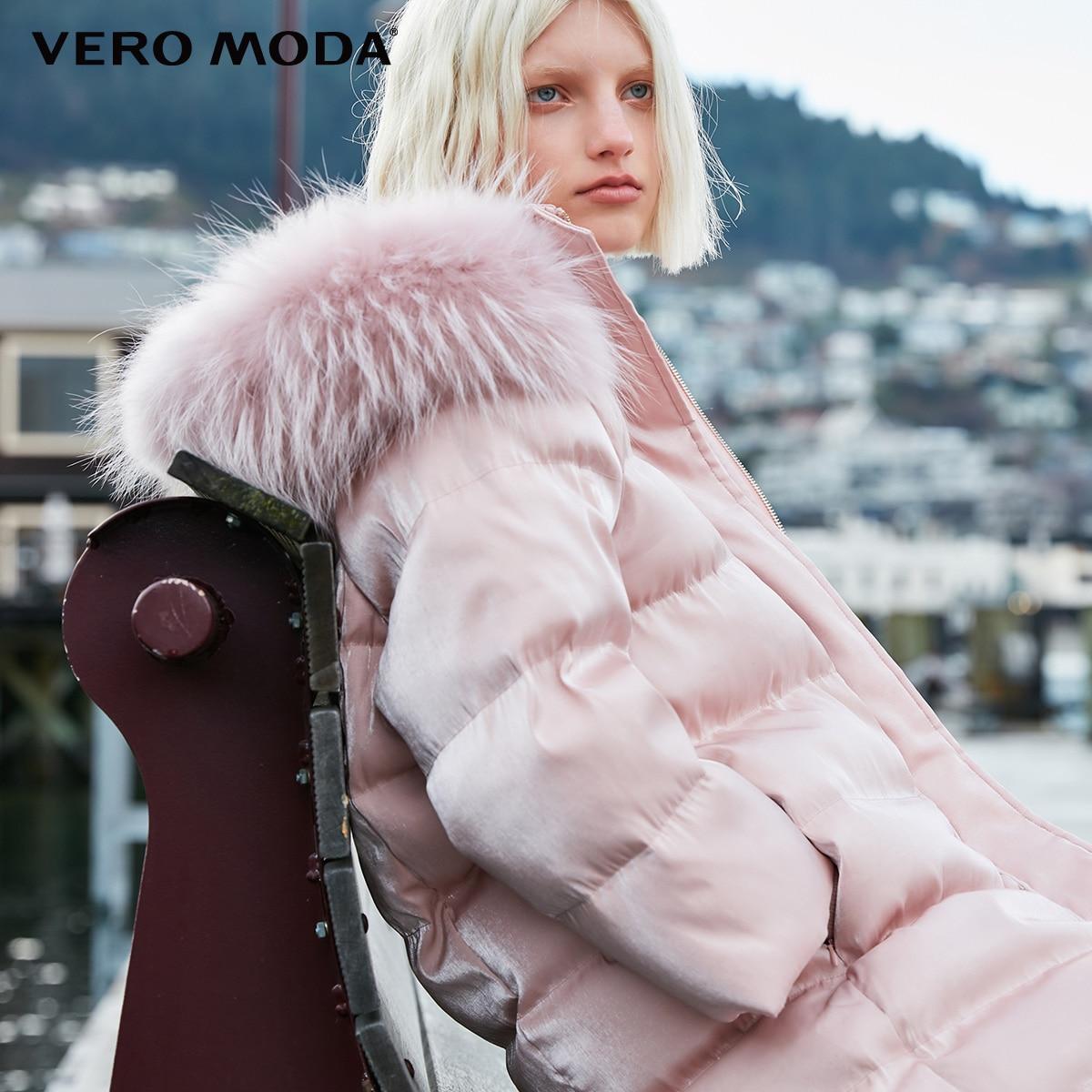 Vero Moda New Raccoon Fur Oversize Long Down Jacket Women | 318423509