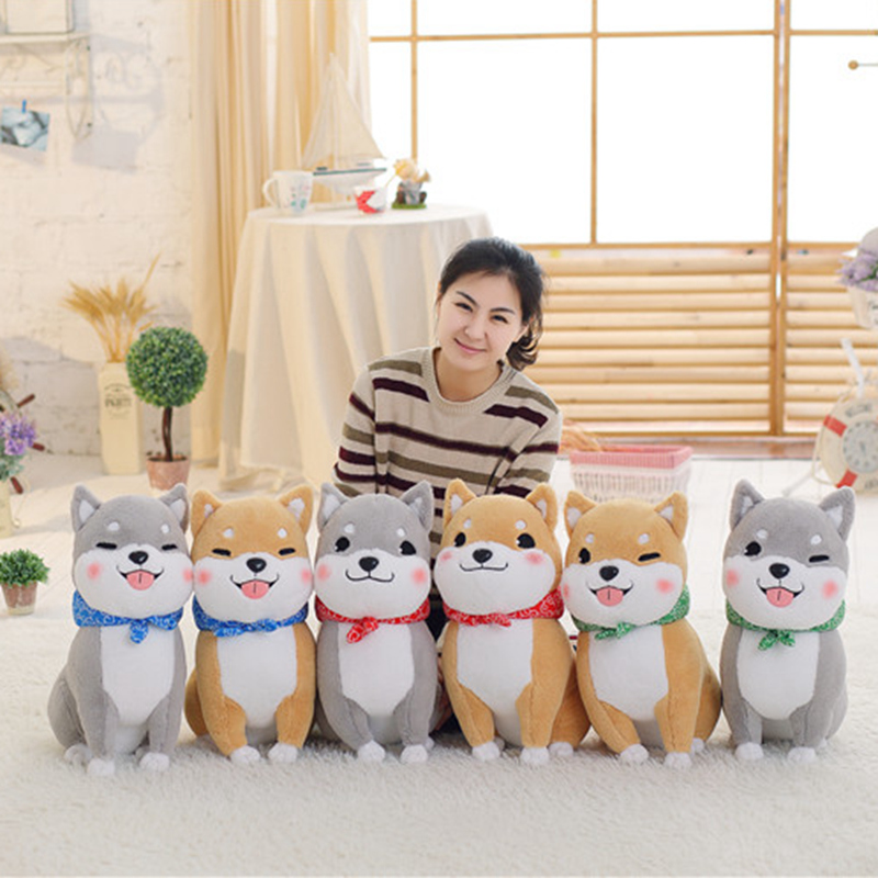 PUNIDAMAN Kawaii Cute Shiba Inu Stuffed Plush Toys For Children Soft Fluffy Shiba Inu Dog Kids Doll Birthday Gift For Kids Girls 30cm cute korea pororo little penguin plush toys doll pororo with glasses plush soft stuffed animals toys for children kids gift
