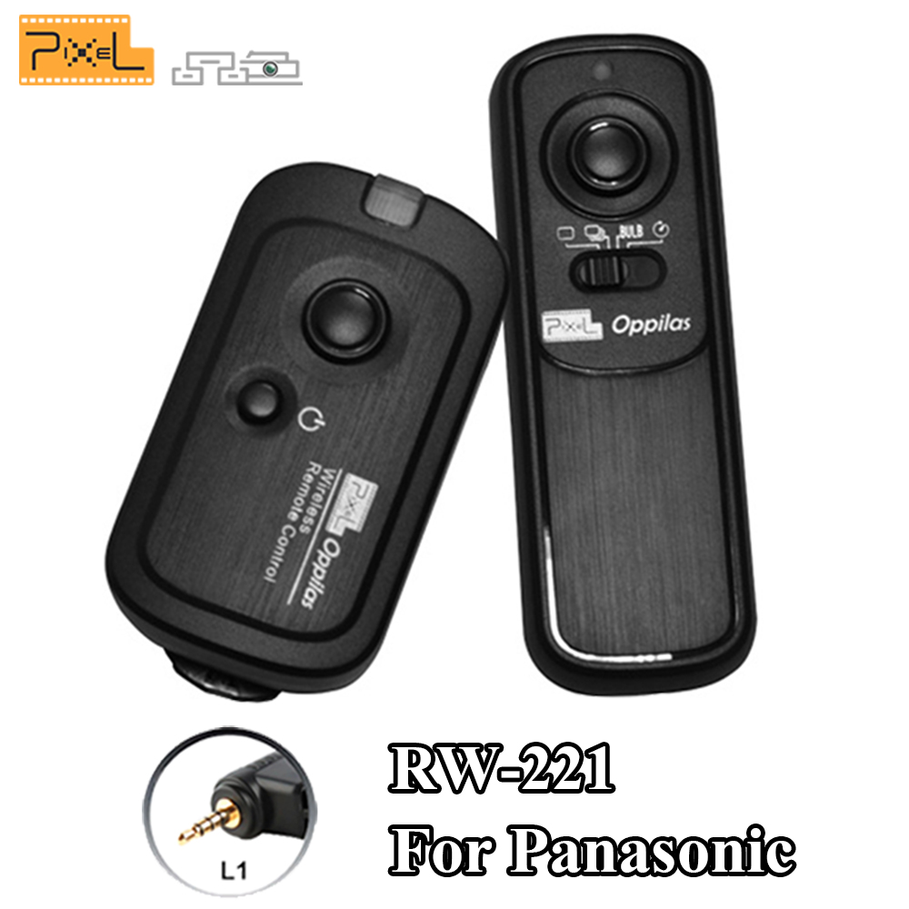 Pixel RW-221 / L1 Wireless Shutter Release Remote Control for Leica Panasonic DMC G1 G2 G3 G5 G6 GH1 GH2 GH3 GH4 GX1 L1 L10 LC-1 1 lcd wired timer remote switch shutter release for panasonic fz10 15 20 leica more 1 x cr2032