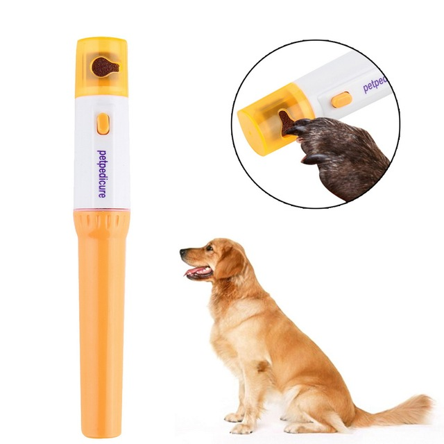 electric painless pet nail clipper dog cats paw nail trimmer cut pets grinding file kit grooming