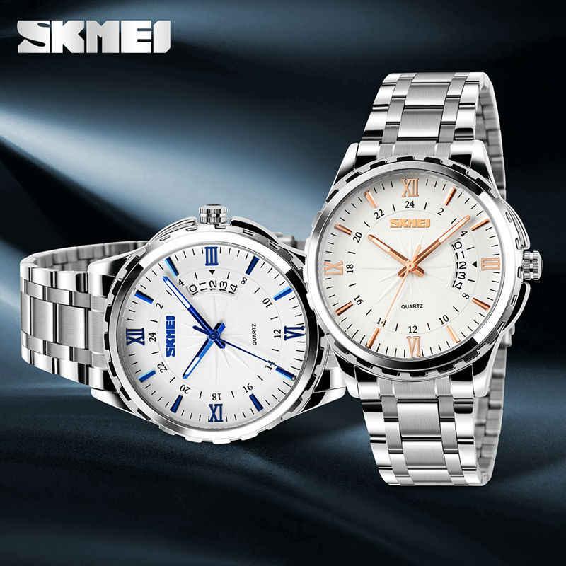 Skmei 9069 男性クォーツ時計男性フル鋼腕時計ダイビング 30 メートルファッションスポーツウォッチレロジオ masculino 2020 高級ブランド腕時計