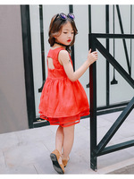 BanKu 2018 Summer New European And American Models Back Small Sexy Vest Children Clothes Orange Red