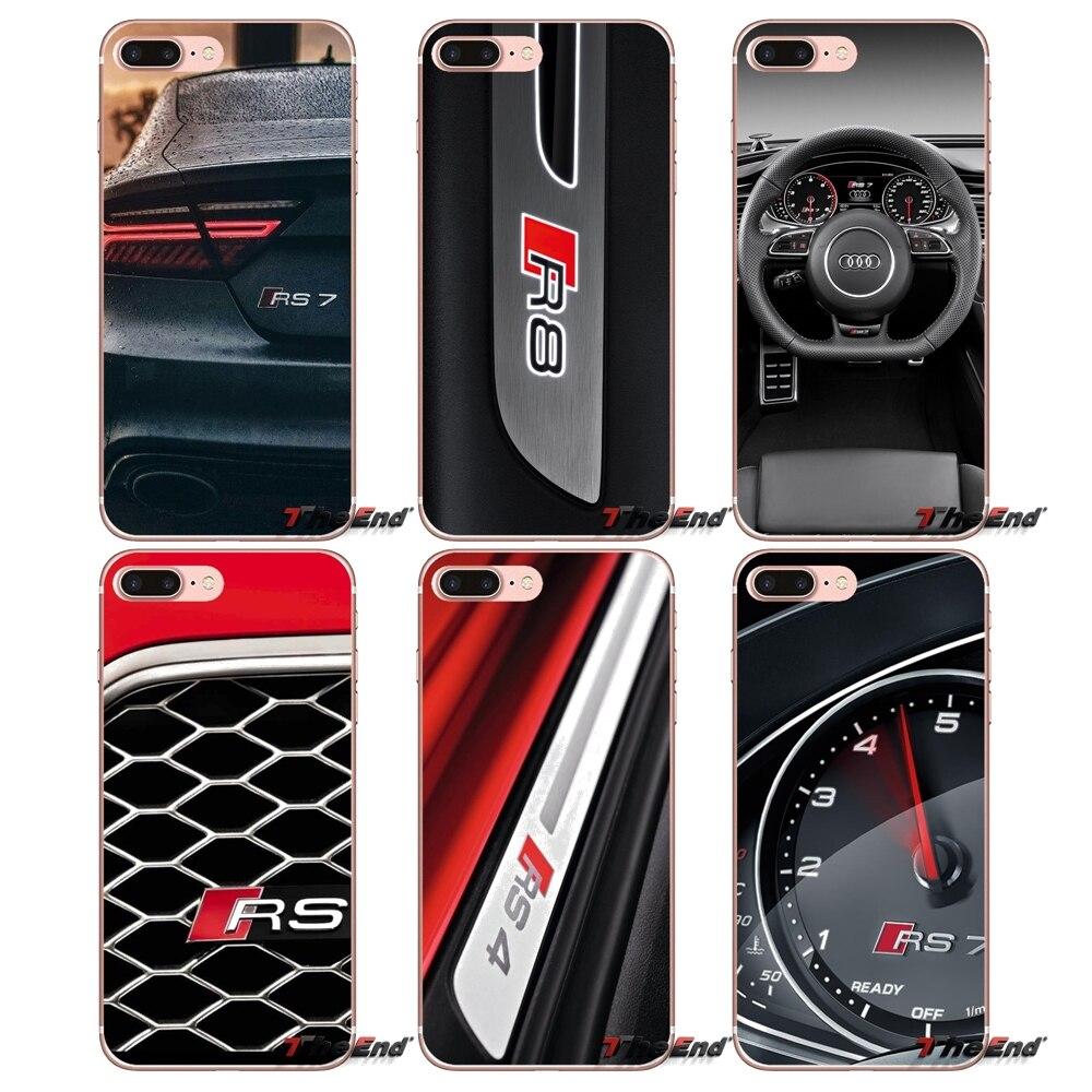 Audi RS7 RS8 car rs logo Accessories Phone Shell Cover For Apple iPhone X 4 4S 5 5S SE 5C 6 6S 7 8 Plus 6sPlus 6Plus 7plus 8plus