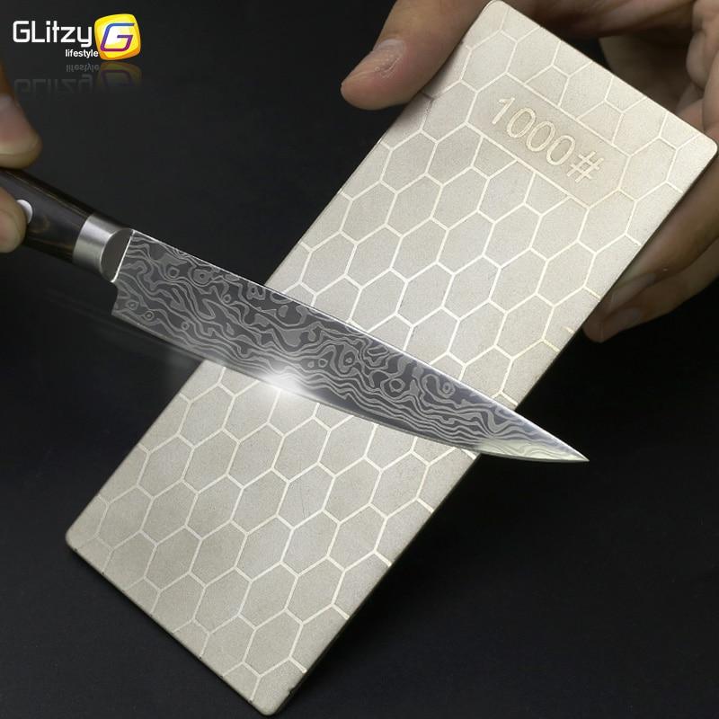 Алмазный Ножи точильный камень 400 #600 #1000 # Ножи точилка 1- 4 предмета в комплекте, ультра-тонкий ячеистая поверхность точильный камень точильн...