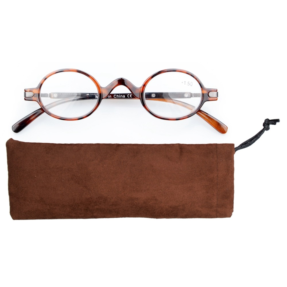 R077 Eyekepper Readers Spring Temple Vintage Mini Small Oval Round Reading Glasses & Reading Sunglasses +0.00----+4.00