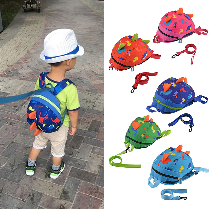 New Children Cute Dinosaur Baby Safety Harness <font><b>Backpack</b></font> Toddler Anti-lost Bag Children Durable Sturdy And Comfortable Schoolbag image