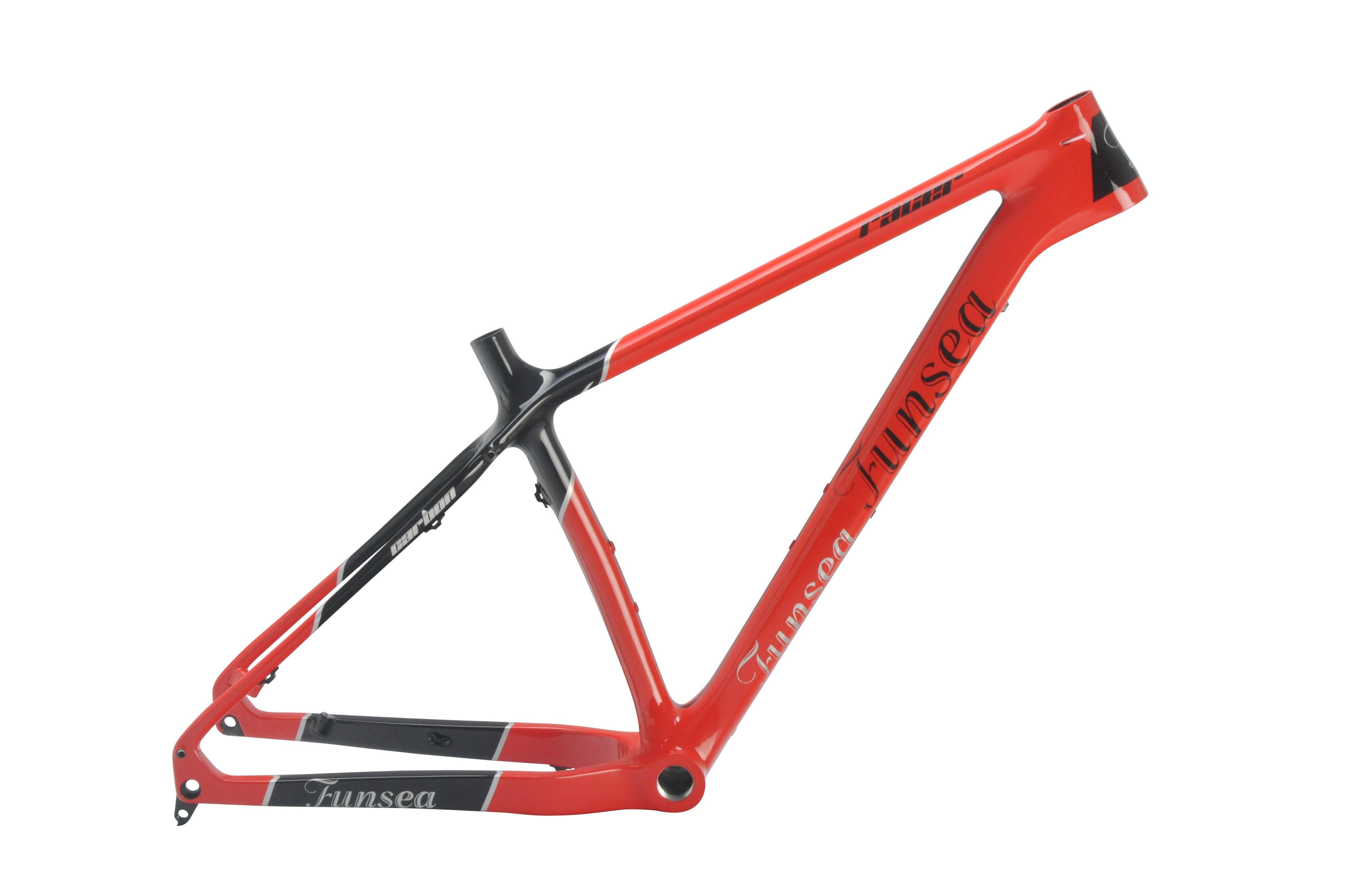 China Manufacturer Funsea T700 Carbon Fiber Fat Bike Frame Fat Tire Bicycle Frame 16