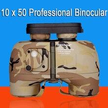 Powerful Binoculars Rangefinder Telescope 10x50 Long Range Military Binocular Professional Night Vision Binoculars HD 2016 New