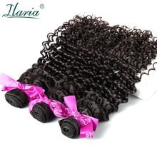 ILARIA волосы перуанские вьющиеся девственные волосы глубокая волна пучок s перуанские человеческие волосы ткет натуральный цвет 3 Полный пучок мягкие волосы