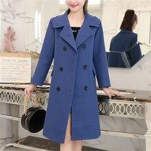 Winter Women Coat Korean Fashion Woman Double Cashmere Jacket Plus Size Elegant Cotton Wool Coats 2019