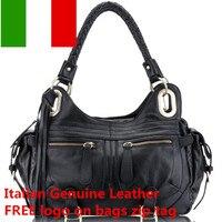 Бесплатная логотип итальянские сумки кожаные оптовая продажа пояса из натуральной кожи сумки для женщин на плечо ПР стиль сумка