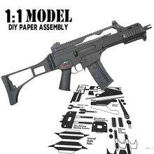 Ensemble de Construction, modèle pistolet à jouets 1:1 HK G36, papier assemblé, jouet éducatif, jeu de Construction, cartes