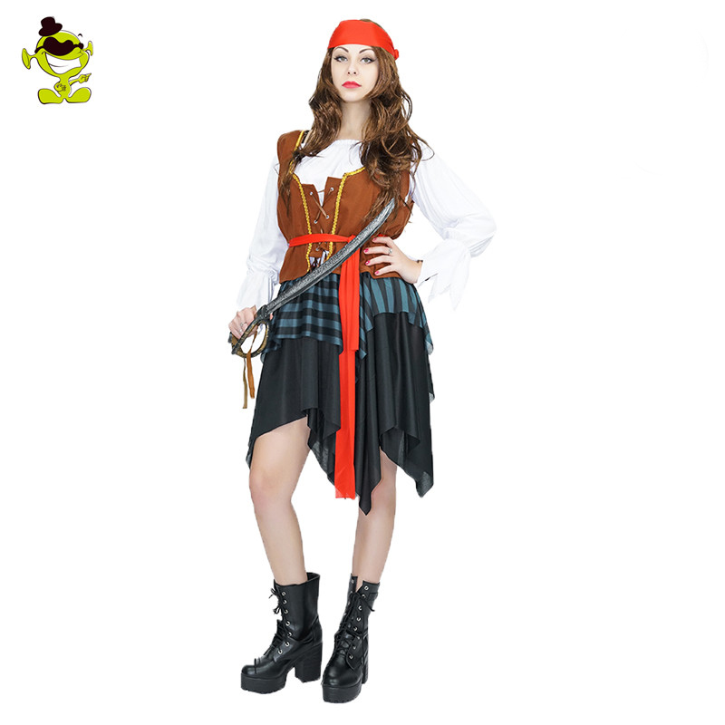 Enge Halloween Kostuums.Us 24 64 15 Off Volwassen Enge Pirates Caribbean Kostuum Halloween Pirate Man En Vrouw Party Kostuums In Volwassen Enge Pirates Caribbean Kostuum
