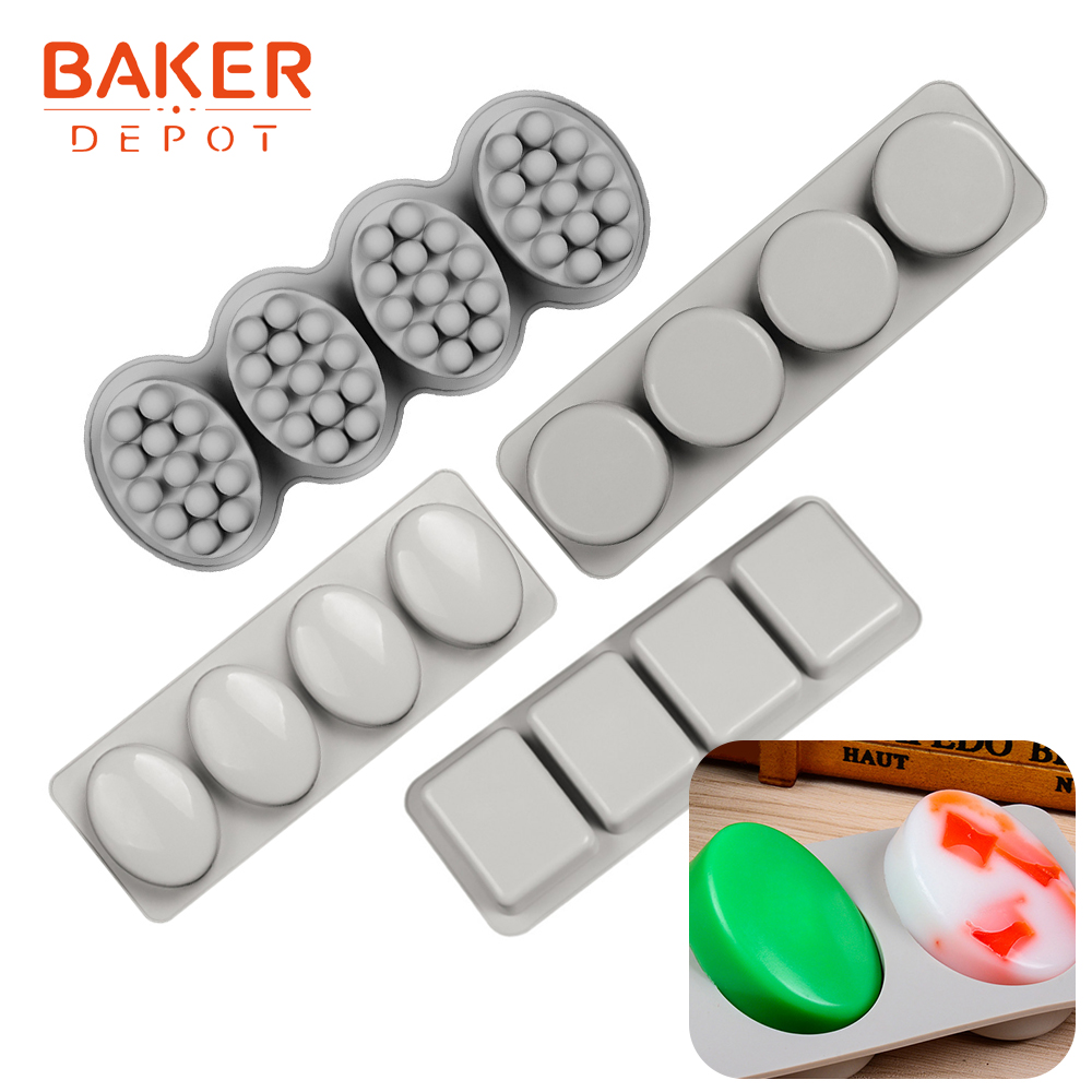 <font><b>BAKER</b></font> <font><b>DEPOT</b></font> Silicone Mold for soap round molds for pudding pastry baking ice jelly chocolate cake bakeware candy fondant forms image