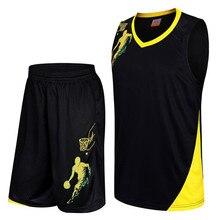 Быстросохнущая Для мужчин; Возврат Баскетбол Джерси Устанавливает дышащий пустой баскетбол Джерси форма Наборы спортивной подготовки Костюмы костюмы
