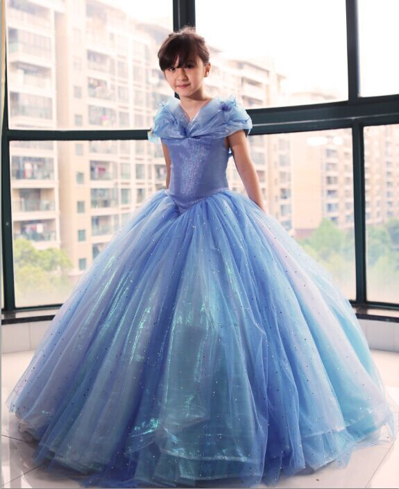 Newest Deluxe 2015 Kids Cinderella Cosplay Costumes Blue Cinderella Dress-in  Kids Costumes & Accessories from Novelty & Special Use on Aliexpress.com ...