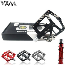 VXM Bicycle Pedal Aluminum Alloy Mountain Bike Pedal MTB Road Cycling Sealed 3 Bearings Pedals Ultra-Light