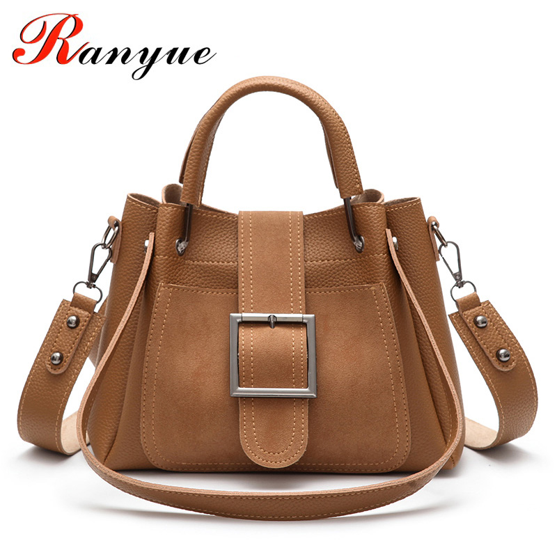 RANYUE Shoulder Bags For Women Leather 2018 New Spring Luxury Handbags Women Bags Designer 2pcs Women Leather Handbag Composite ranyue high quality pu leather shoulder bags for women 2018 composite bags womens luxury handbags women bag designer sac a main