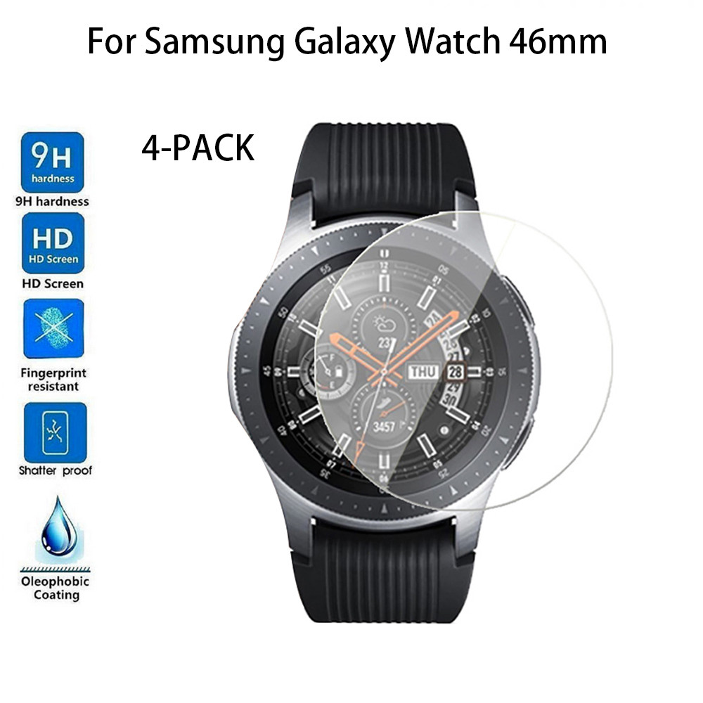 4PC Not Full Coverag Tempered Glass Screen Protector For Samsung Galaxy Watch 9H Anti Scratch Ultra Thin Screen Protector Film
