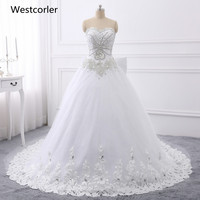 100 Real Picture Wedding Dresses 2015 Hand Beading Long Bridal Gowns Sweetheart Neck Sleeveless Backless Lace