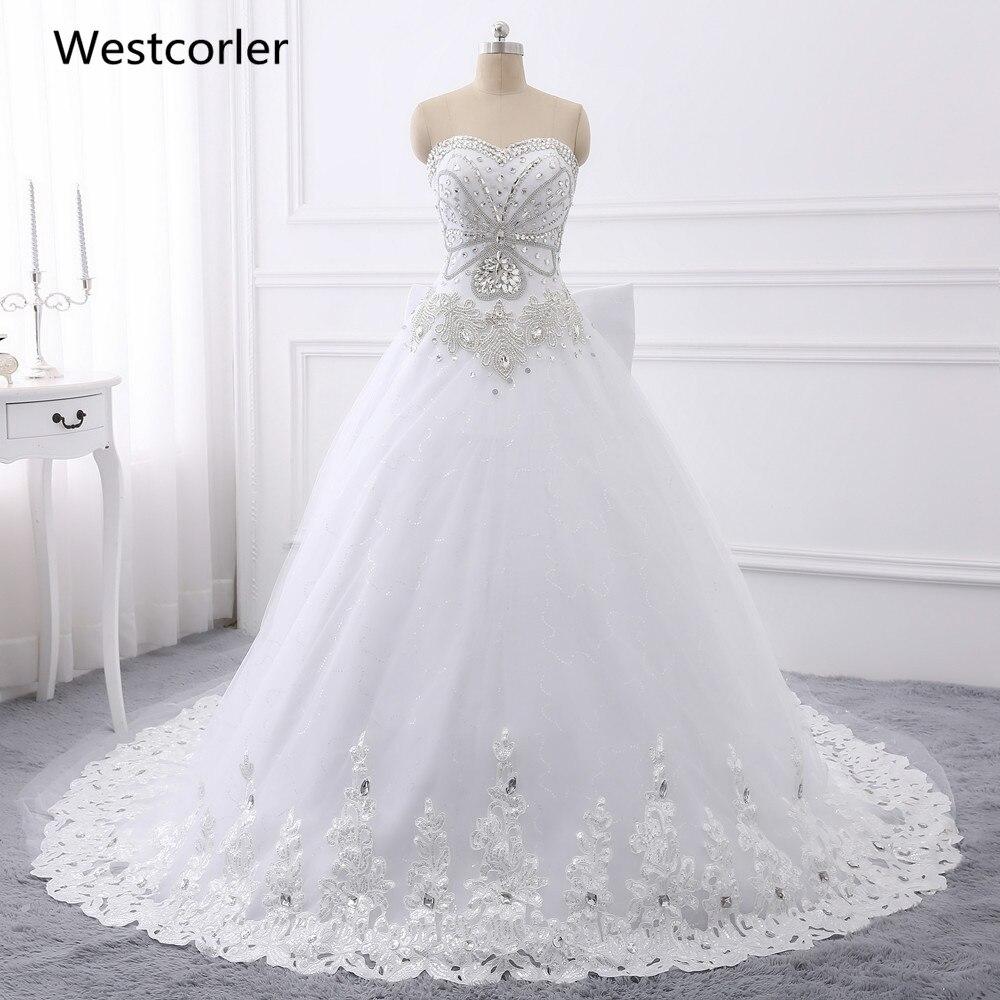 Vestidos de novia de cristal con imagen real del 100% 2017 Vestidos - Vestidos de novia