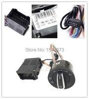 Chrome Headlight Auto Sensor light + switch for VW Passat B5 Bora Polo Golf 4 new Jetta Beetle 5ND941431B