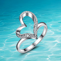Hot Style The Dolphins 925 Pure Sliver Ring High Quality 925Sterling Silver Sterling Silver Ring For