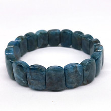 Nature Kyanite Stone  Bracelet For Men Women Blue Color Not Synthetic Pretty Bracelets