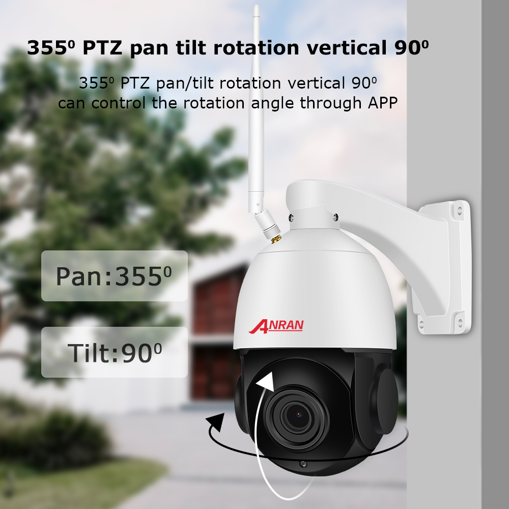 Anran 5mp câmera ip 20 x zoom ptz ao ar livre à prova dwaterproof água velocidade dome câmera lente 60 m ir night vision câmera de segurança apoio onvif - 3