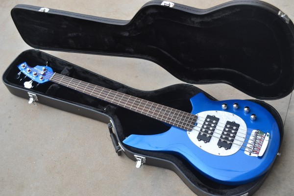 free shipping top quality active pickups music man 5 strings bongo electric bass guitar in blue. Black Bedroom Furniture Sets. Home Design Ideas