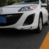 Temmuz Kral LED Gündüz Farları DRL Mazda 3 Axela için Kılıf/Makale 2010 ~ 13, LED Ön Tampon Sis Lambası, 1:1 Yedek