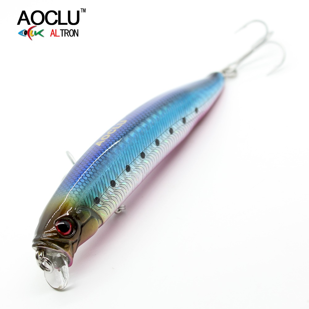 AOCLU lures wobblers Jerkbait 10.5cm 15g Hard Bait Minnow Crank fishing lure With Magnet Bass Fresh 4# VMC hooks 6 colors 5pcs lot minnow crankbait hard bait 8 hooks lures 5 5g 8cm wobbler slow floating jerkbait fishing lure set ye 26dbzy