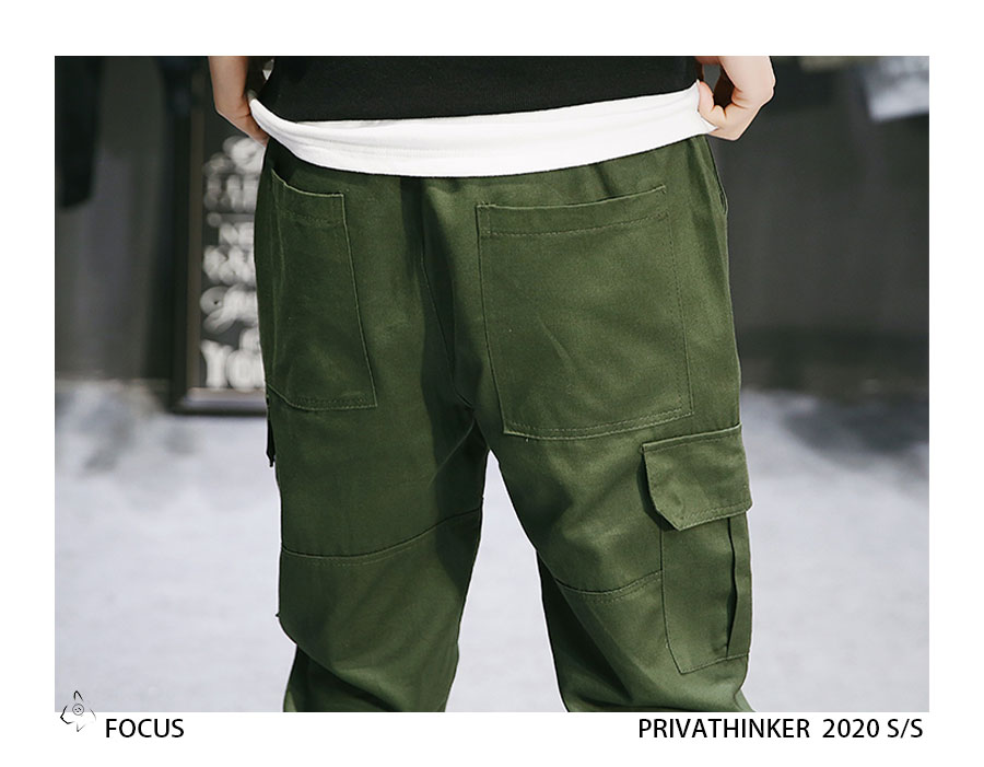 Privathinker Cargo Pants Men 2020 Mens Streetwear Joogers Pants Black Sweatpant Male Hiphop Autumn Pockets Trousers Overalls 71