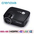 Crenova GP70 LED Multimedia Home Theater Projetor 1200 Lumens 1080 P Portátil Jogo de Reprodução de Vídeo com HDMI VGA USB AUDIO plugue
