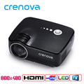 Crenova GP70 LED Projector 1200 Lumens 1080P Portable Multimedia Home Theather Game Video Play with HDMI VGA USB AUDIO Plug