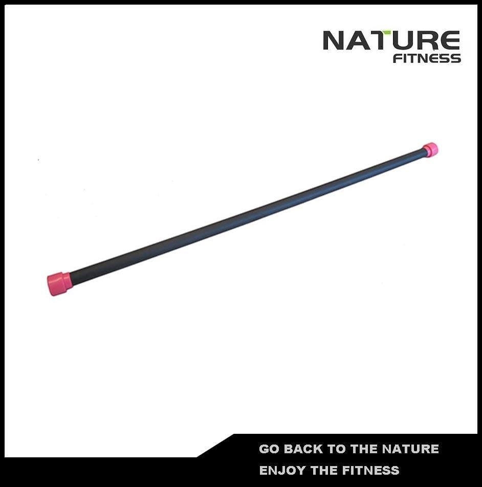 1kg Pink Gym Aerobic Bar / Weighted Body Bar For Strength Training