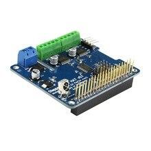 1 шт. Новое поступление полный Функция робот Плата расширения Поддержка шаговый двигатель сервопривода для Raspberry Pi 3B/2B/b +